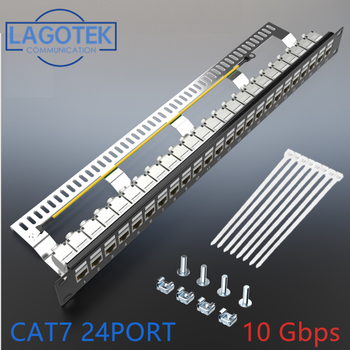 Cat7 Patch panel 24port – FTP Patch Panel Full Shielded keystone