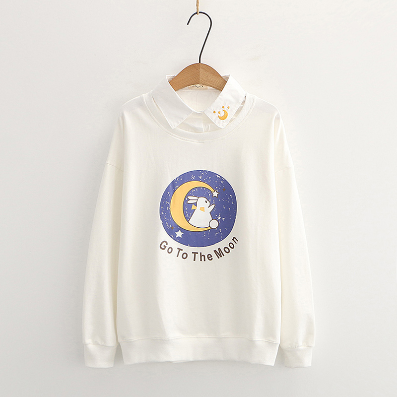 Kawaii Bunny Moon Harajuku Sweater - Limited Edition