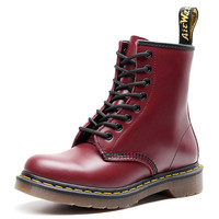 Women Genuine Leather Shoes for Winter Boots Shoes Woman Fashion Warm Military Desert Botas Mujer Female Ankle Boots