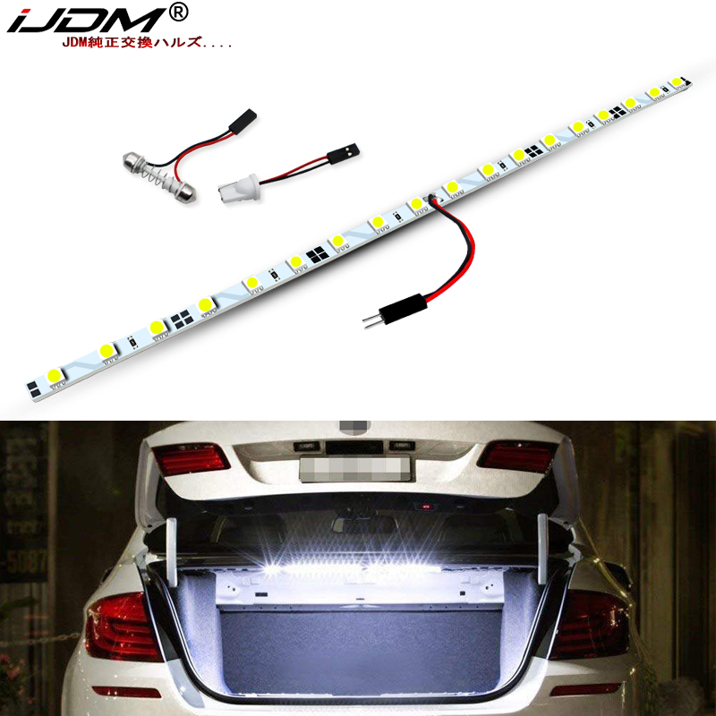 IJDM CANbus Error Free T10 W5W LED Strip Light Compatible With For Audi BMW Ford Etc ,Trunk Cargo Area Or Interior Illumination