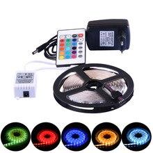 12 volts led luzes de tira rgb 2835 dc12v flexível led tiras de luz 5m fita à prova dwaterproof água do diodo para o quarto luzes da sala tv