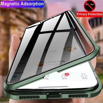 Magnetic 360 Glass Case For iPhone 11 case 360 Magnetic Anti Spy iphone 6 7 8 7 plus 8p 10 XS XR XSX 11 PROMAX Protective Cover