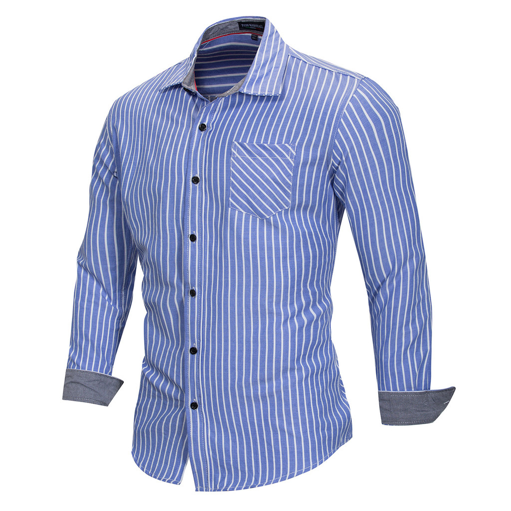 High Quality Men Shirt Stamped Long Sleeve Shirt New Style Fashion Printed Long-Sleeved Blouse thumbnail