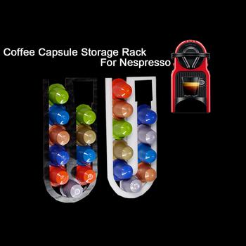 Uchwyt na kapsułki kawy Nespresso kapsuła do przechowywania Nespresso filtr do kawy uchwyt dozownik kapsułka z kawą stojak dozujący tanie i dobre opinie dalinwell Other YXA054