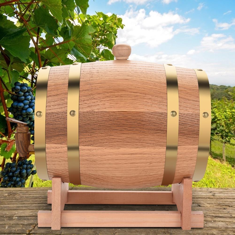 Vintage Wood Oak Timber Wine Barrel for Beer Whiskey Rum Port  Reusable Bar Tools Bucket Brewage Decorative Wine Barrel