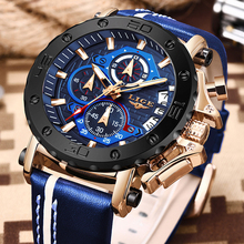 2020 LIGE New Mens Watches Top Brand Luxury Big Dial Military Quartz Watch Leather Waterproof Sports Watch Men Relogio Masculino