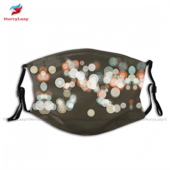 Wholesale Protection LeMans Bokeh Circle Pattern Horizontal Face Mask Fun Polyester Adult Mouth Facial Mask With Filter image
