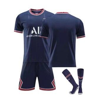 2022 Kids Adults Soccer Jerseys Sets Survetement Football Kits Men Child Running Jackets Sports Training Tracksuit Uniforms Suit