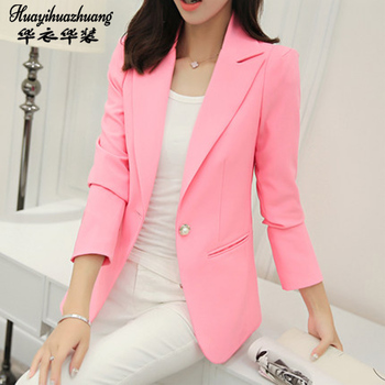 Women Formal Office Work Uniform Business 1Piece Jacket singleton Blazer Autumn Winter 2020 Suit Female Plus Size image