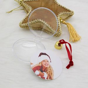 Image 4 - DIY Transparent Photo Five star Ball Christmas Decoration Valentines Day Gift Supplies for X mas Tree Hanging Decorations Party