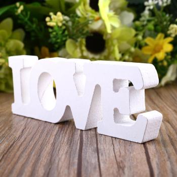 "Woody Letters Wood Romantic English Alphabet ""LOVE"" Home Decoration Accessories Wooden Letter Sign for Crafts Wedding Desk Decor 1"