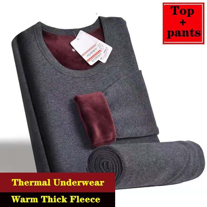 2020 зимнее термобелье для мужчин и женщин, длинные кальсоны, зимнее женское термобелье + штаны, комплект теплого плотного флисового термобел...