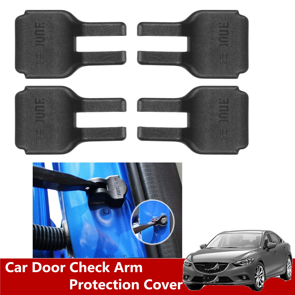 4 Pcs Car Door Check Arm Waterproof Protection Cover for <font><b>Mazda</b></font> 2/3/5/6 for <font><b>Mazda</b></font> <font><b>CX</b></font>-5/7/<font><b>9</b></font> 2010 <font><b>2011</b></font> 2012 2013 2014 2015 2016 image