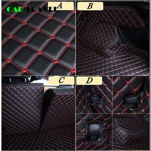 Image 4 - Custom leather Car Trunk Mats For mitsubishi pajero sport outlander x grandis ASX Lancer Galant 2018 Car Cargo Rear Boot Liner