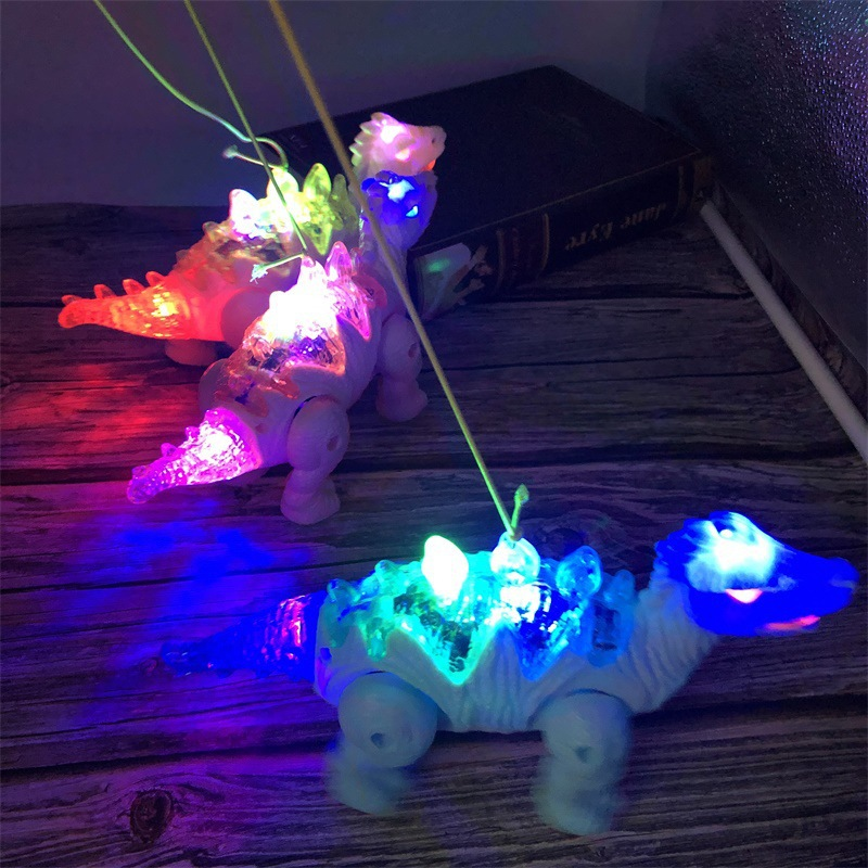 Electric Leash Dinosaur Light Included Light Music Walk Doll Bracing Wire Dinosaur Children Hot Selling Stall Toy
