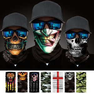 Máscara de cara completa para motocicleta, máscara de cara para invierno, máscara táctica fantasma, máscara deportiva de cráneo 3D, cuello cálido, bufanda de tubo para exteriores a prueba de viento