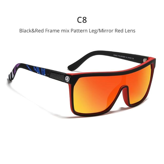 One-piece Shape Men & Women Sunglasses Polarized Elastic Paint Surface Sun Glasses Suitable Long-lasting Goggles Cat.3 6