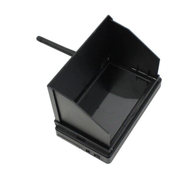 شاشة JMT 5.8G 48CH 4.3 بوصة LCD 480x22 بكسل 16:9 NTSC/PAL FPV جهاز بحث تلقائي مع بطارية مدمجة من OSD