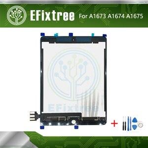 Новый ЖК-экран в сборе, сенсорная панель с наклейками для планшетов, ЖК-экран A1673, A1674, A1675, ML0F2LL, EMC2827