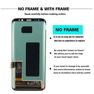 Image 2 - Pantalla original para SAMSUNG, reemplazo LCD táctil para Galaxy S8 S8plus, ensamblaje digitalizador, G950F G955, con marco