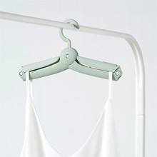 Foldable Portable clothes hanger Plastic Hangers Multifunction Travel Folding Hanger Home Storage Hangers Underwear Drying Rack