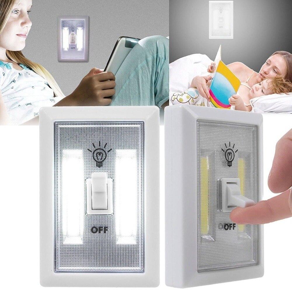 Wall Lamps Lamp Light Reading Cob Night Plastic Art Led Bulbs Emergency Switch Dc Card Bedside Room Bedroom 4w Litwod ABS 0-5W