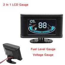 Gauge-Meter Alarm-Gauge Sensors Digital Auto LCD with 12V for Car Truck 2-In-1