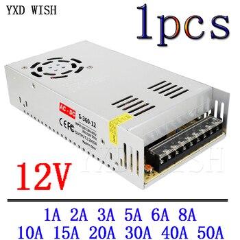 Transformadores para iluminación de DC 12V AC adaptador de fuente de alimentación 12V 1A 2A 3A 5A 6A 8A 10A 15A 20A 30A 40A 50A LED conductor de laboratorio