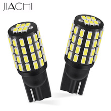 JIACHI 100PCS LED T10 W5W 194 168 2825 Auto Parts Non Polarity 3014 54SMD Replacement Bulbs Parking Lights Car Wedge Lamp 12 24V