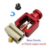 Red Crazy Hotend Cloned Mosquito Hot End V6 Plated Copper Nozzle For Ender 3 CR10 Prusa I3 MK3S Titan / Bmg Extruder 3D Printer