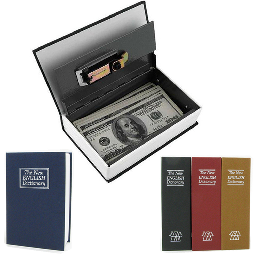 Dictionary Mini Safe Box Hidden Place Small Book Safe Piggy Bank Secret Stash Kids Gift For Storing Money Cash Security Box