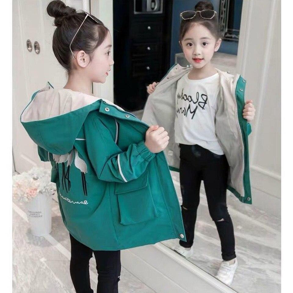 Детское пальто для девочек на весну и осень, модная повседневная куртка с рукавами для маленьких девочек, одежда для подростков, детская повседневная верхняя одежда, 2019|Куртки и пальто| | АлиЭкспресс