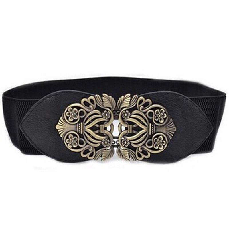 Jaycosin Women's Carved Scalable Faux Leather Square Buckle   Belt   Foldable Convenient Retro Fashion Elegant Waist   Belts