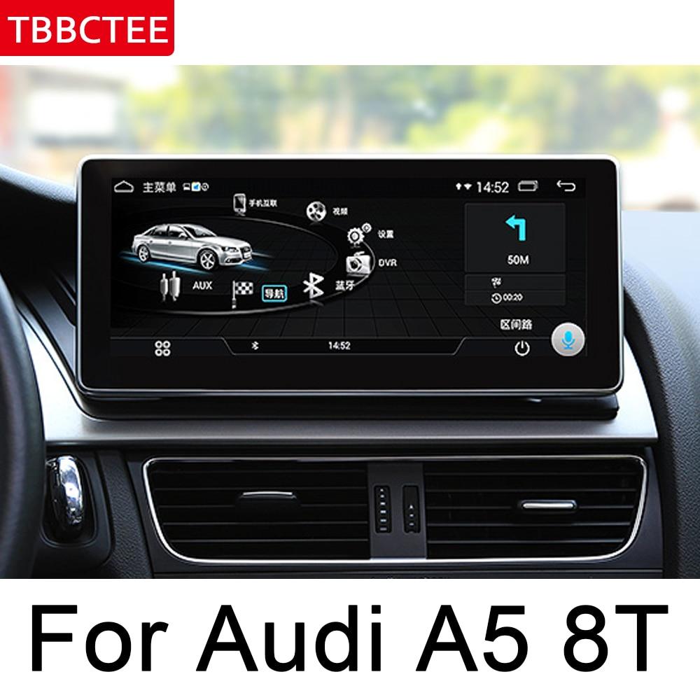 Pour Audi A5 8T 8F 2007 2008 2009 2010 2011 2012 2013 2014 2015 2016 Voiture Android GPS Navi lecteur Multimédia système Moniteur D'écran