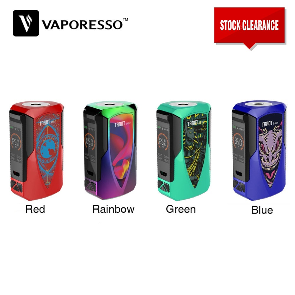 Clearance !! Original Vaporesso Tarot Baby 85W TC MOD With 2500mAh Battery Electronic Cigarette Box Vape Mod Vs Swag 2/ Gen Mod