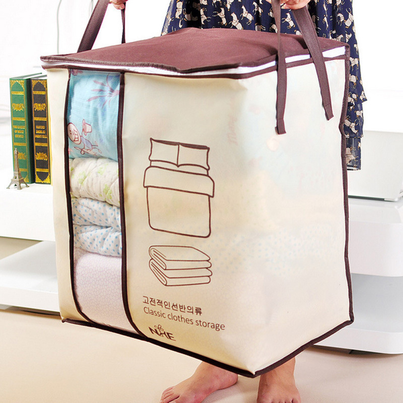 Non-Woven Clothes Storage Bag Save Space Organizador Under Bed Storage Box Clothes Divider Organizer Quilt Bag Home Organizer