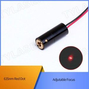 D8x20 мм регулируемый фокус 635 нм 1 мВт 5 мВт 10 мВт красный точечный лазерный диодный модуль промышленного класса ACC драйвер TYLASERS