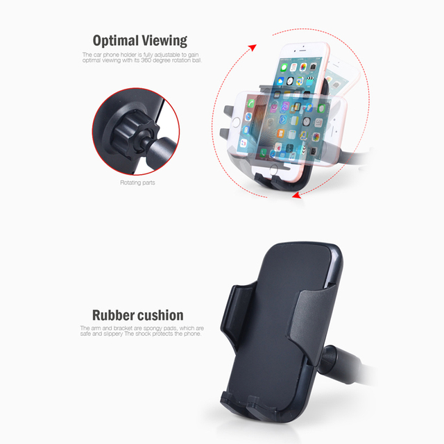 Windshield Car Phone Holder Long Arm Windshield Mount Stand Cradle Universal Support for SmartPhones 4-6 inch Cell Mobile Phone 4