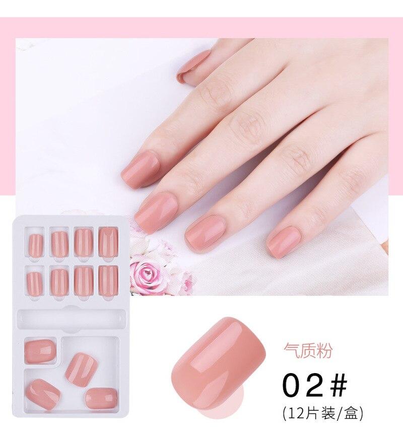 12 шт/30 шт Искусственные накладные ногти с клеем для дизайна Короткие Поддельные ногти Ложные капсулы для ногтей Аксессуары для дизайна ногтей пресс на ногти|Накладные ногти|   | АлиЭкспресс