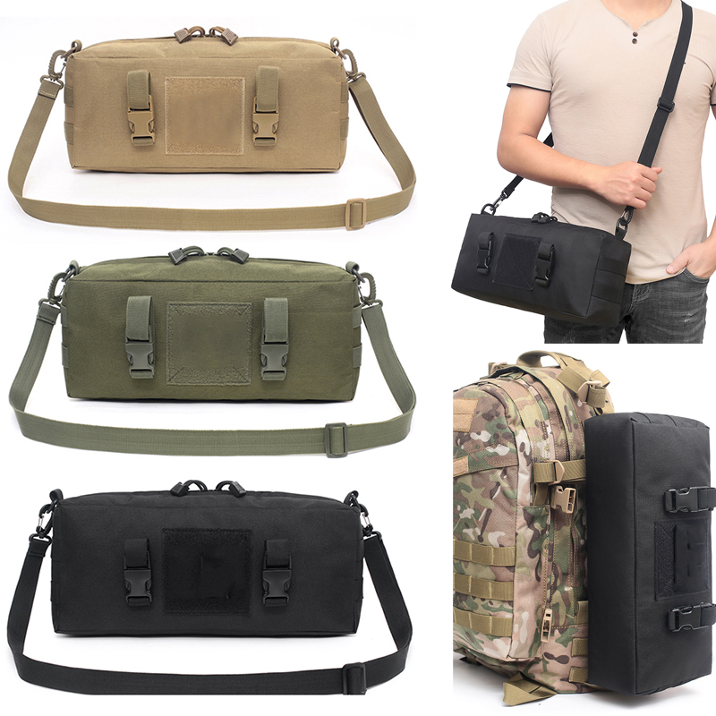 High Quality Multi-Function Mens Tactical Bag Military Molle Combat Waist Bag Shoulder Messenger Bag for Hunting Camping