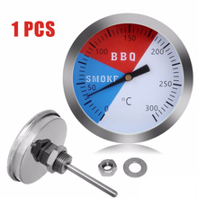 1*Barbecue BBQ Smoker Thermometer Grill Temperature Gauge 0-300 Degree Celsius Stainless Steel Best Celling 0 300 degree length 20 cm bimetallic thermometer wss 411 stainless steel disc industrial boiler thermometer radial