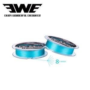 EWE PEMAX X8 BRAID Wire Fluorescent Blue Long Shot Dedicated Fishing Lines