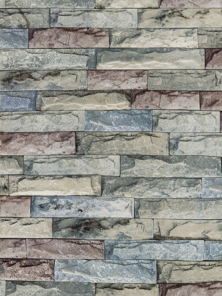 Brick Textured Wallpaper Peel And Stick Self-Adhesive Wallpaper Vintage Colorful  Rock Wallpaper For bathroom Kitchen Wall Decor