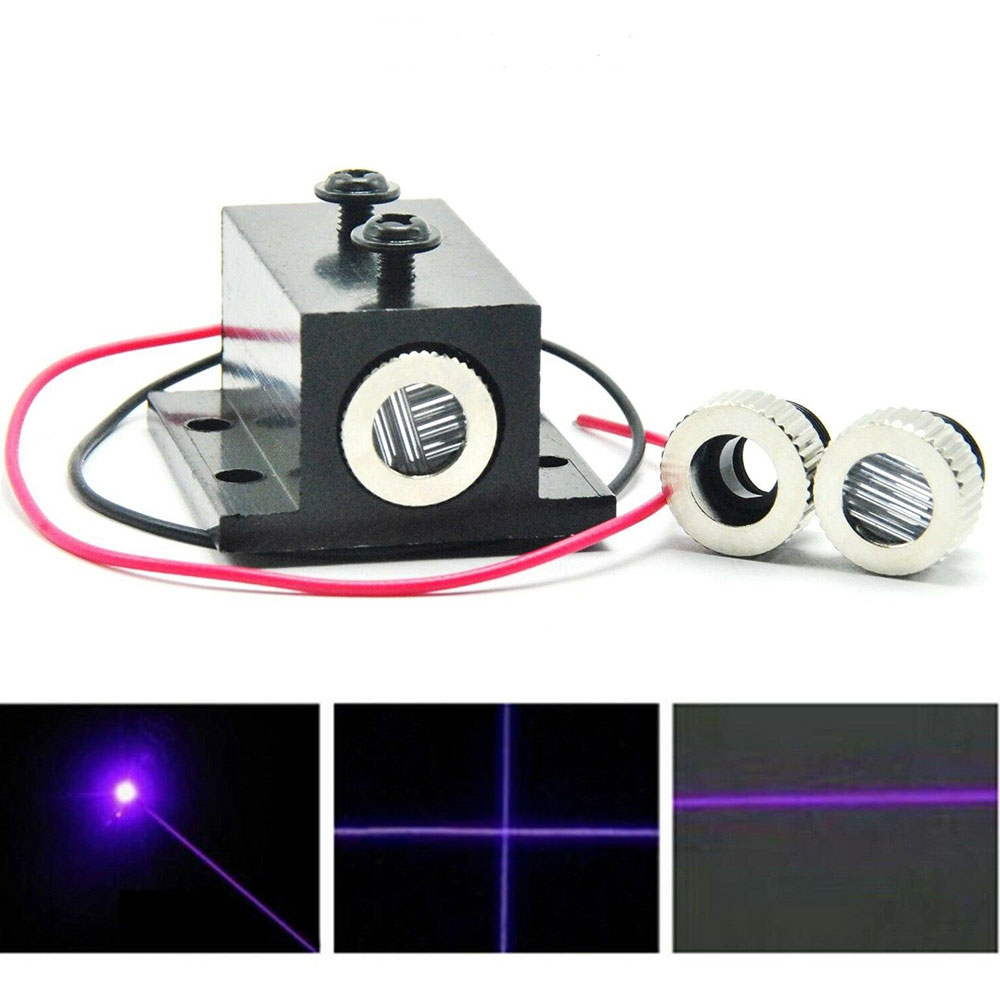 20mW 405nm Violet/Blue Laser Dot/Line/Cross Laser Diode Module Focusable W/ 12mm Heatsink