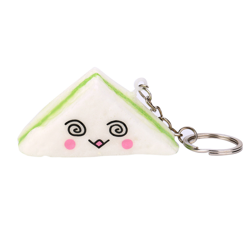 Cute Mini Bread Slow Rising Squeeze Toys Collection Key Buckle Family Friendship Keychain Birthday Gift Girl Toys #A