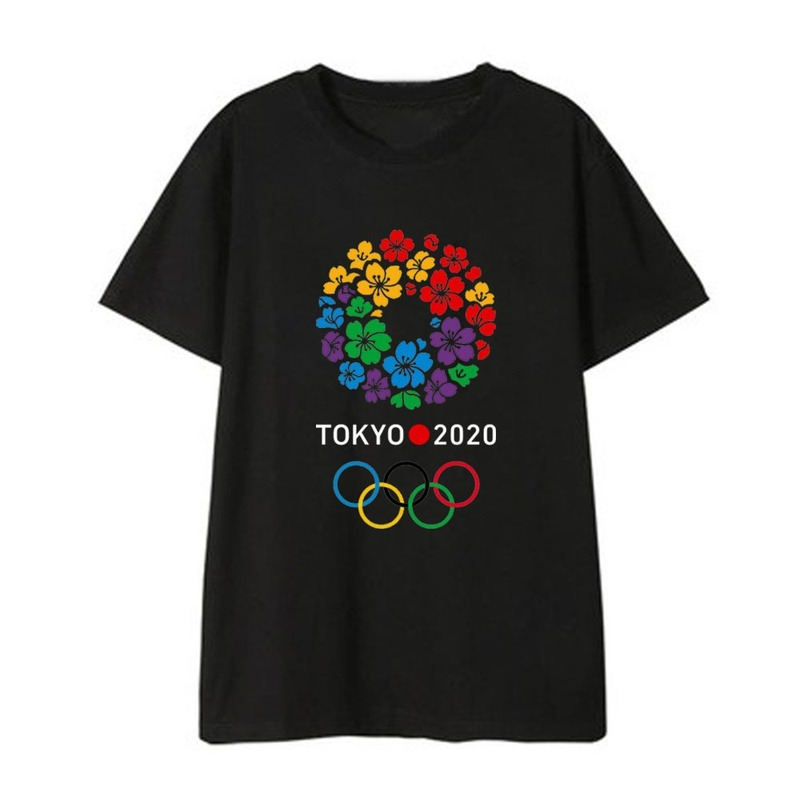 2020 Japan Hot Sale Tokyo Olympics Short Sleeve T-Shirt Loose Fashion Undershirt Men And Women Lovers