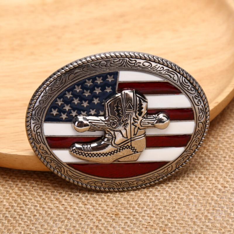 Retro American Flag  Mens' Belt Buckle Marvel  For Western Men Cowboy And Cowgirl Metal Buckles