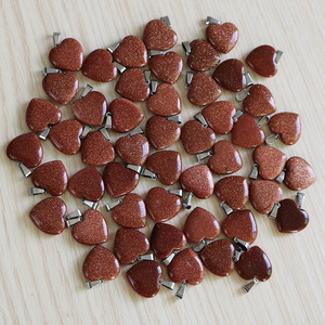Image 5 - Fubaoying Natural Crystal Pink Heart Necklace Stone Pendant 20mm 50pcs Lot Charms For Jewelry Making