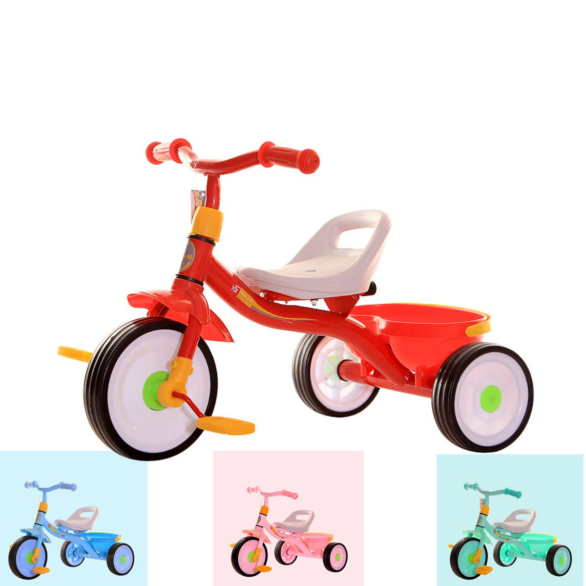 2-4Y Baby Stroller Children's Tricycle Boy Girl Bicycle Seat Adjustment Stroller Umbrella Car for Kids Tricycle Stroller bike