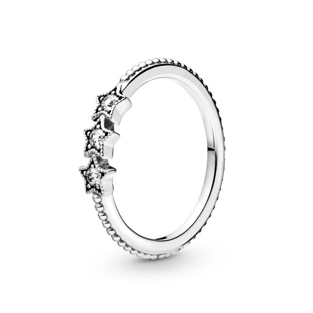 Подлинное 925 пробы серебро оригинальный небесные звезды Европа Пан кольцо для Для женщин бисеры, подарок, сделай сам, ювелирное изделие
